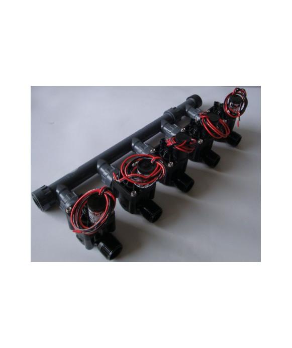 Pre-installed Kit with 5 valves 9V HUNTER
