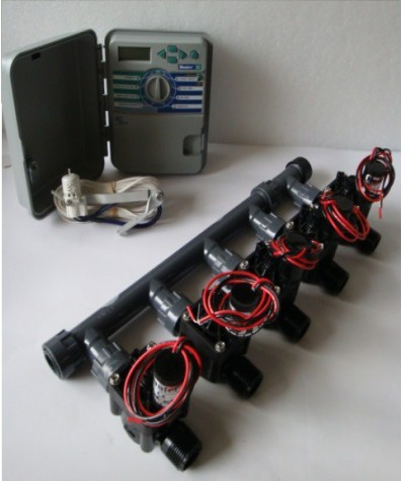 Kit with 5 valves + controller XCH + rain sensor
