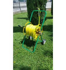 Hose reel varnished GIM 50 with 25 mt of rubber pipe d.15