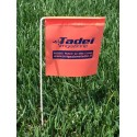 Flags to signal sprinklers
