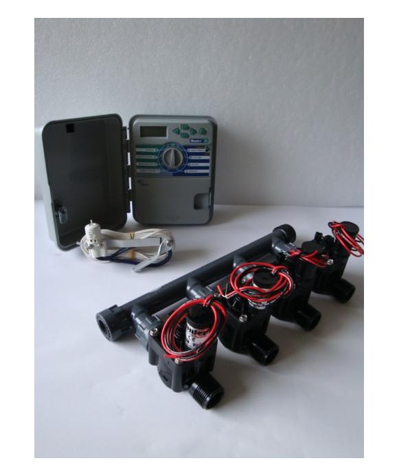 Kit with 4 valves + controller XCH + rain sensor