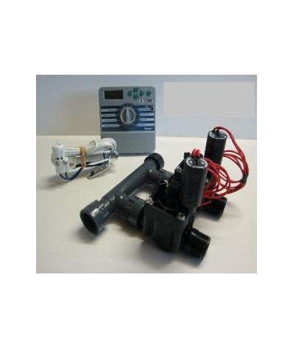 Kit with 2 valves + indoor controller + rain sensor