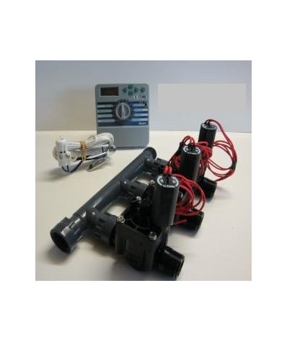 Kit with 3 valves + indoor controller + rain sensor