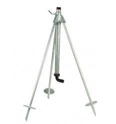 "Garden Tripod for sprinkler 1""1/4 with hose connector 90°"