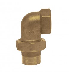 Pipe coupling curved M-F in brass