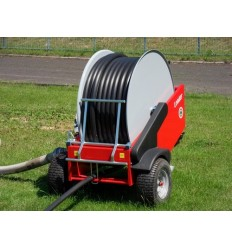 Irrigation automotive machine mod. LEADER-40-A d.40 mm x 120 mt with aluminium turbine