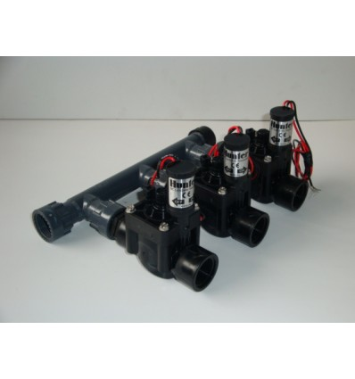 "Manifold d.1"" with 3 ways valve 9V and fittings"