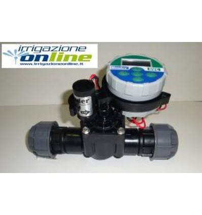 Manifold with 1 way with battery controller HUNTER NODE 100 and valve 9v
